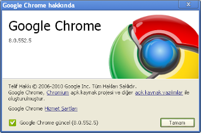 Google Chrome 8.0.552.5