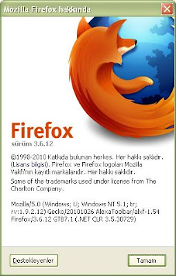 Firefox 3.6.12 Güncel Sürüm