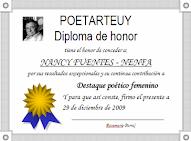 Diploma ortogado por Rosemarie Parra_Poetarteuy