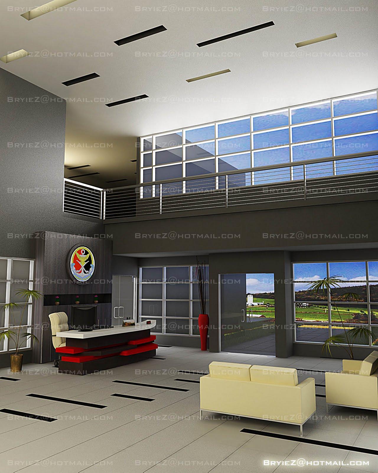 Lobby Interior Design: BryieZ Interior Space + Design