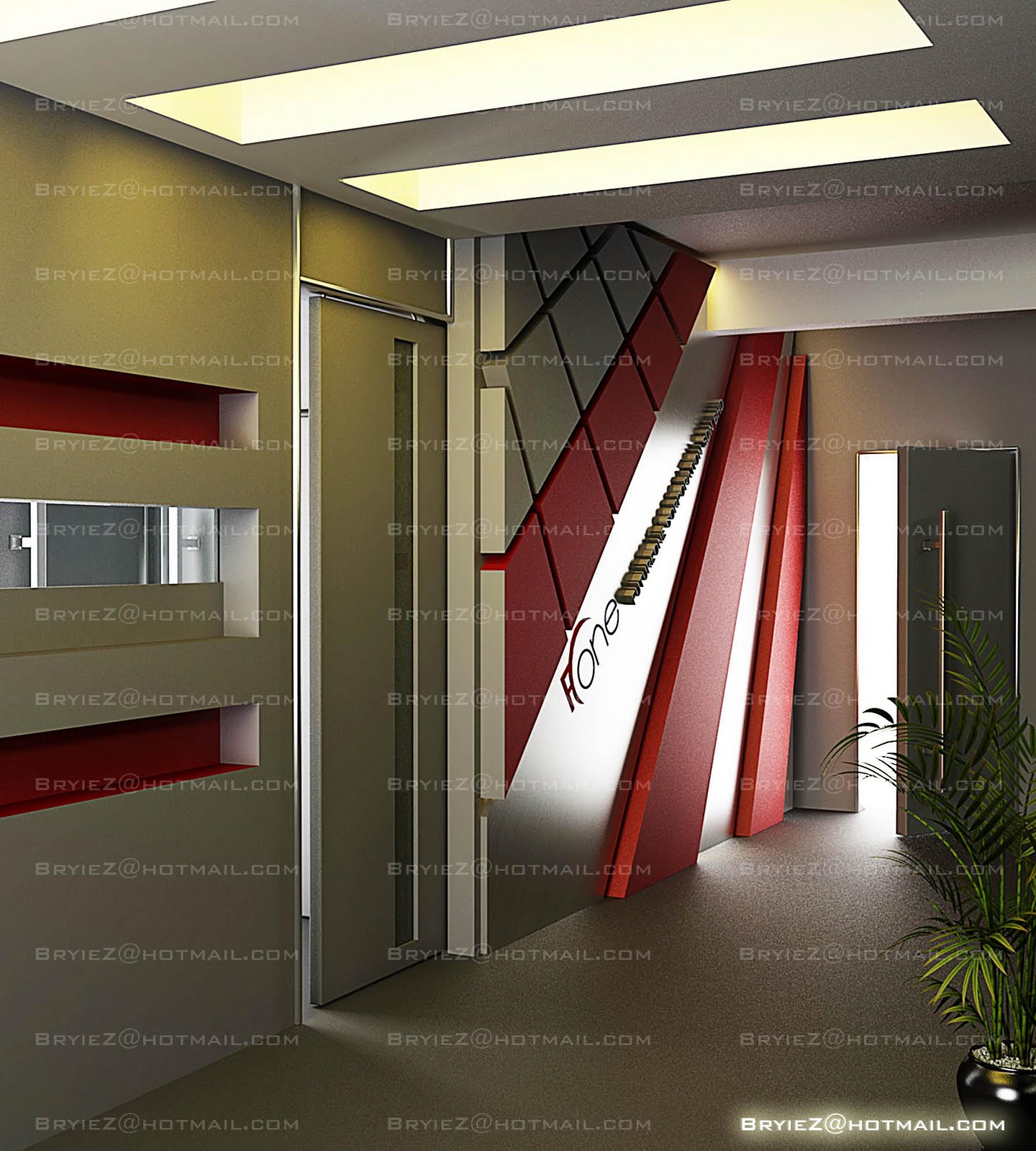 bryiez interior space design office entrance