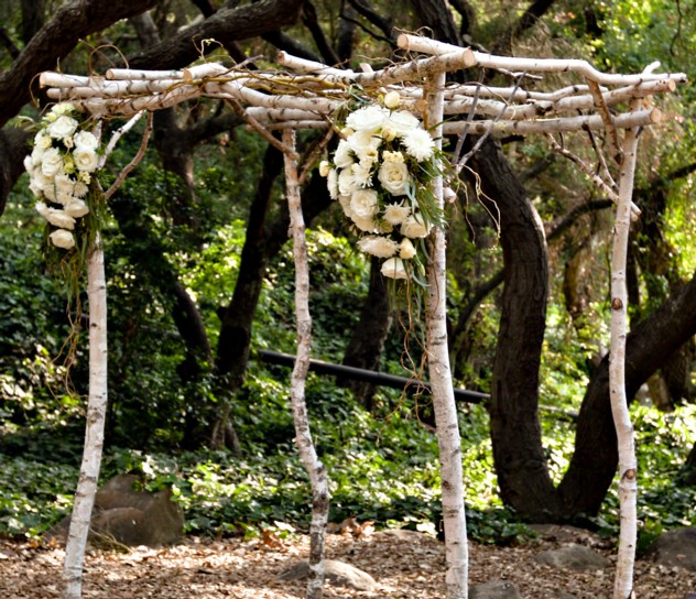 Birch arch via Exquisite Event Planning Design