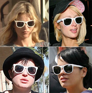 Kate Moss Leads The Way In White Sunglasses That Put Black Frames In The Shade