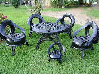 Passo a passo reciclagem com pneus for Ideas para decorar el jardin con llantas