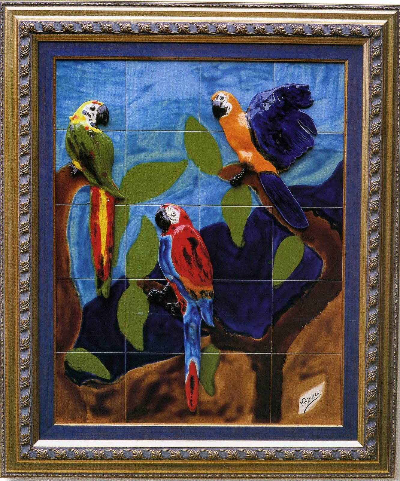 Cer mica y piezas para belenes de magdalena riera murales de azulejos con y sin relieve - Murales de azulejos ...