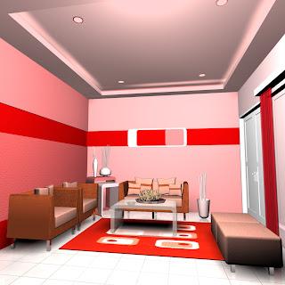 interior ideas monokromatis merah budaya indonesia
