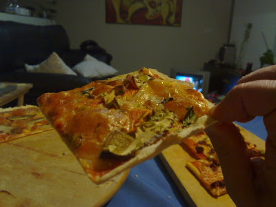 pizza con boletus