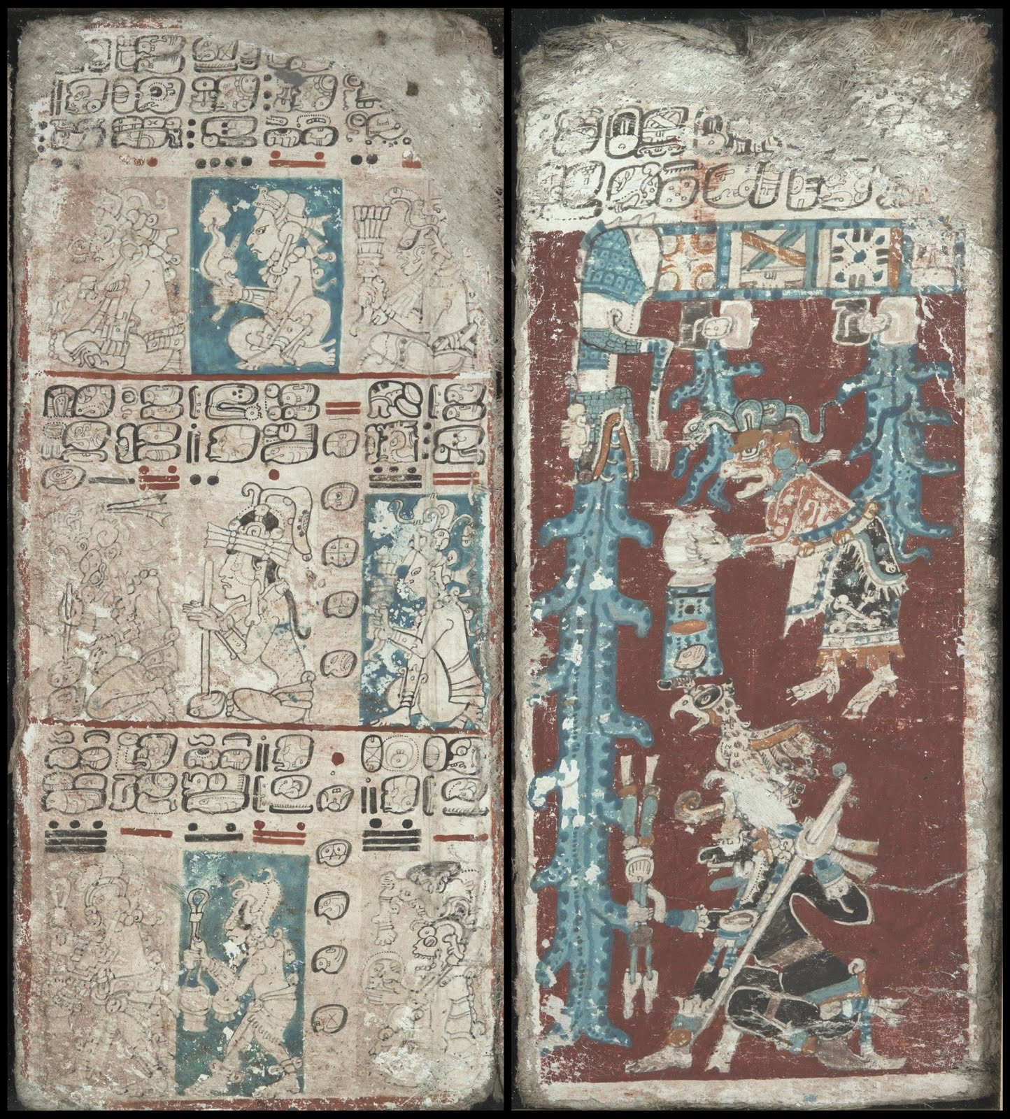 11th century Mayan codex pictographs