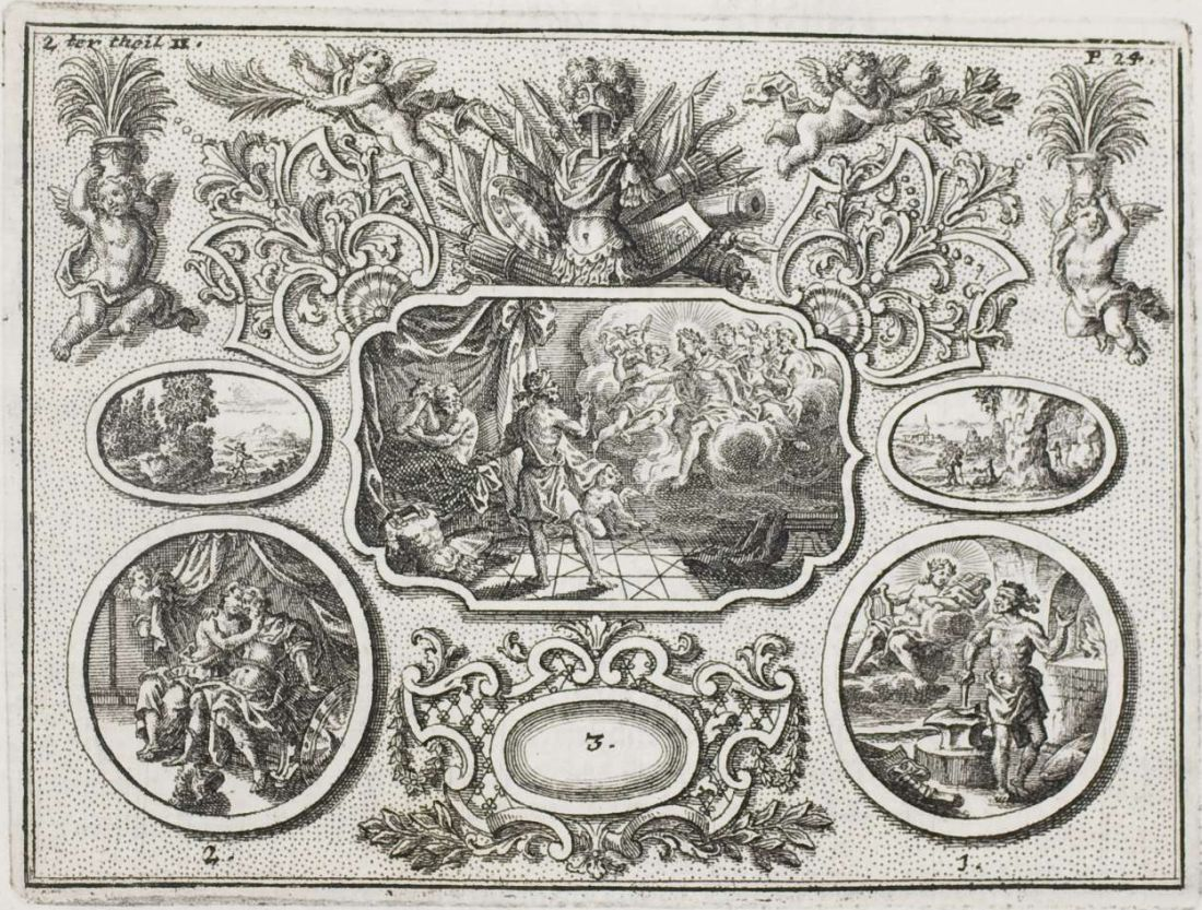 cartouches of allegorical mythology