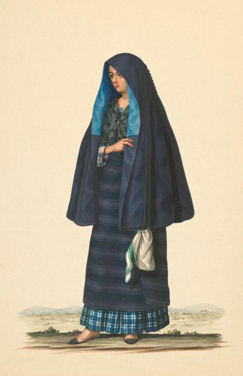 female Filipino costume with veil