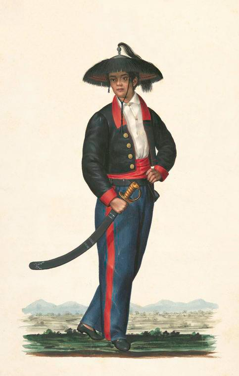 male guard uniform - the Philippines