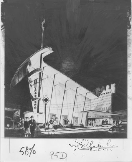 art deco design for LA theatre