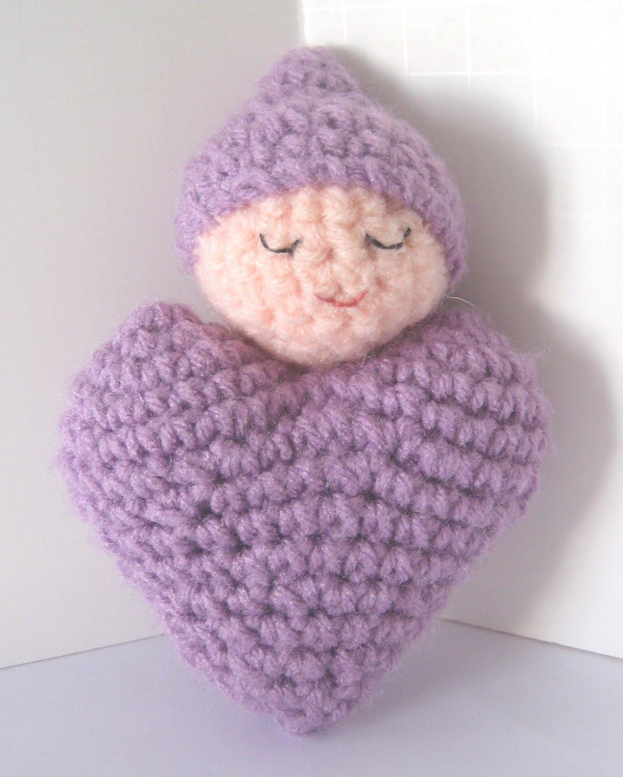 CROCHET N PLAY DESIGNS: Free Crochet Pattern: Heart Shaped Baby Doll