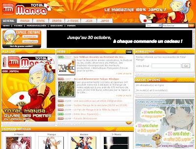 total manga : impression écran nouvelle charte graphique