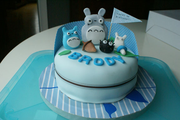 Totoro Birthday Cake and Totoro Party For Brody Coco Cake Land