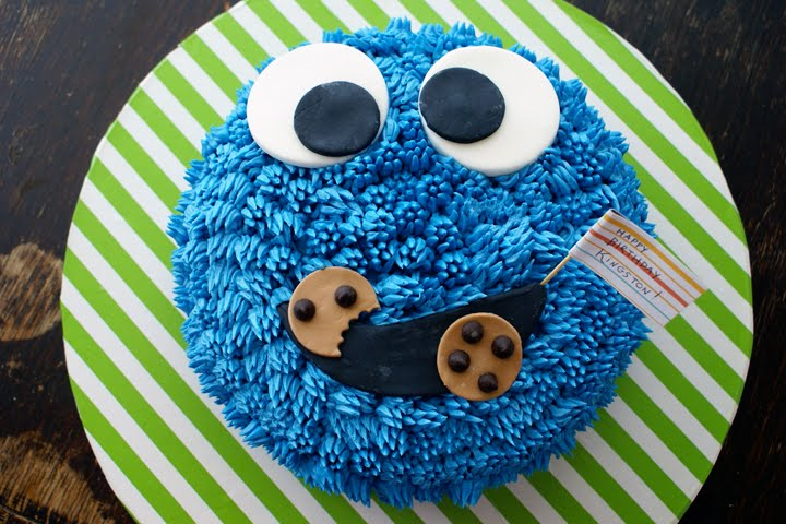 Cookie Monster The Maniac Coco Cake Land Cake Tutorials Cake