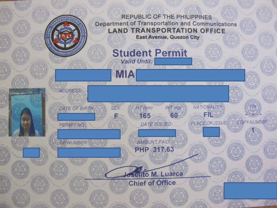 Student Permit