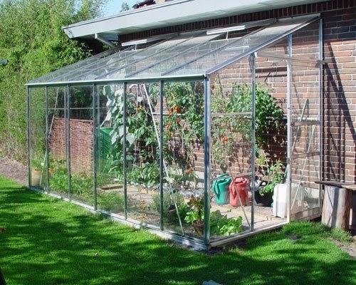 Complementos casa y jard n invernaderos peque os adosado - Invernadero de cristal ...