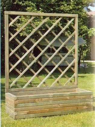 Garden center ejea accesorios jard n jardineras de madera - Celosia con jardinera ...