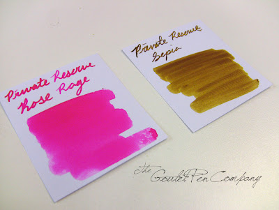 Private Reserve Rose Rage and Sepia swabs