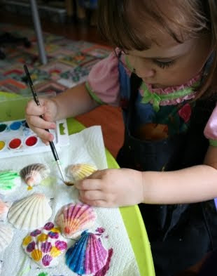 kids paint shells