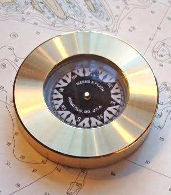 Brass Compass Paper Weight