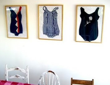 vintage swimsuits in frames