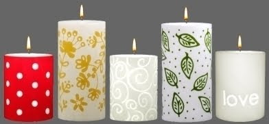 Handcrafted Unscented Pillar Candles