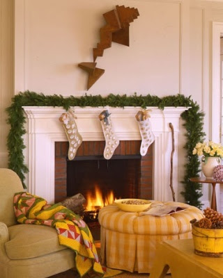 Christmas traditional fireplace