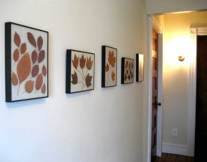 leaves as wall art