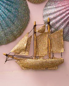 how to glitter ship ornament