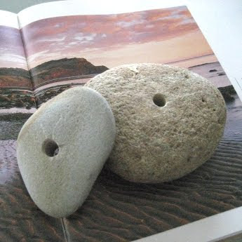 stones with holes drilled