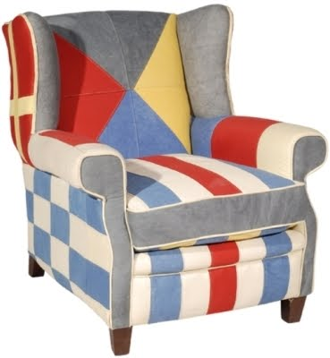 luxury wing chair with flag design