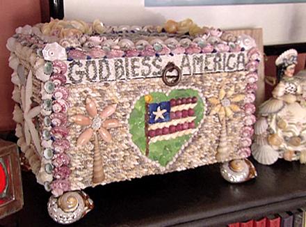 christie brinkley's shell art