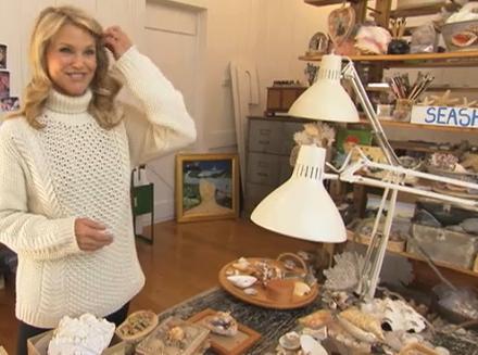 christie brinkley in her art studio