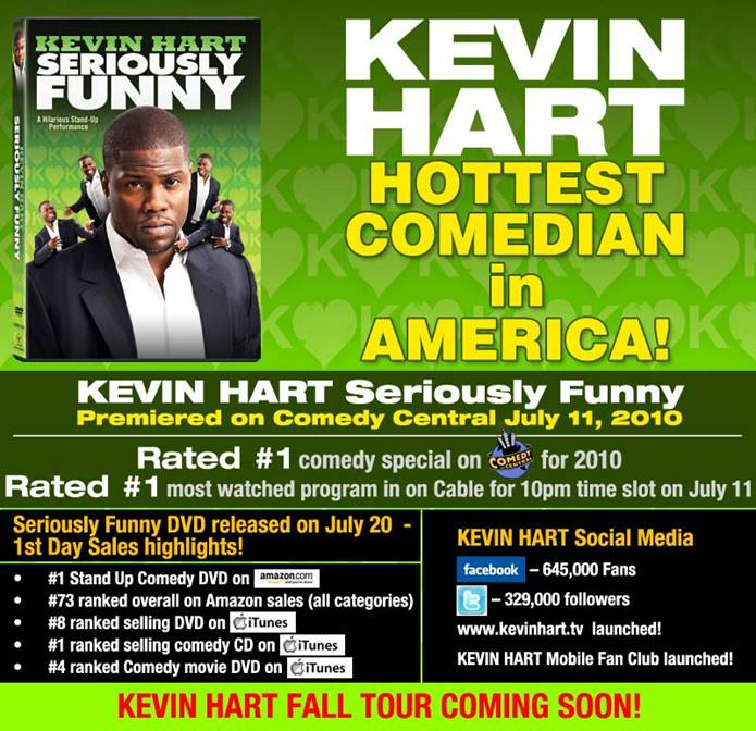 kevin hart seriously funny dvd. KEVIN HART SERIOUSLY FUNNY #1