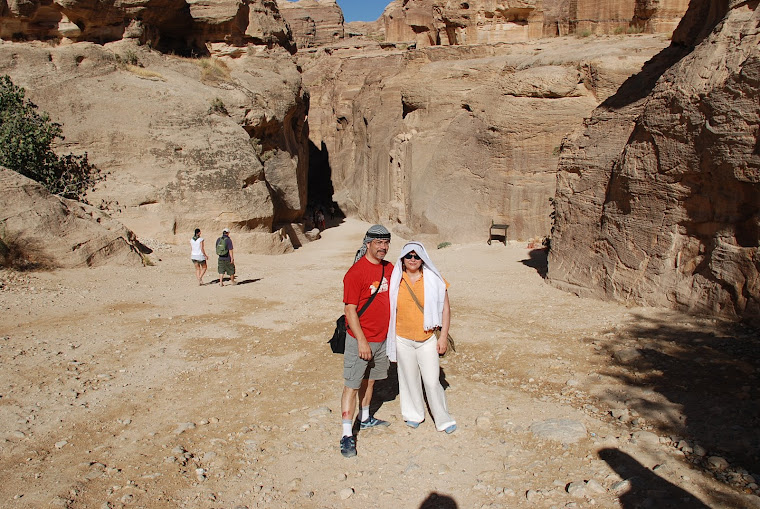 Entrando en Petra.