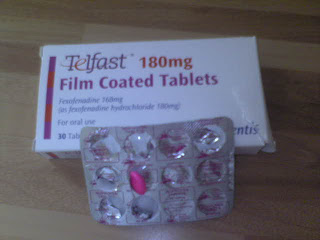 Telfast 180mg with 168mg of Fexofenadine an active ingredient as fexofenadine hydrochloride 180mg