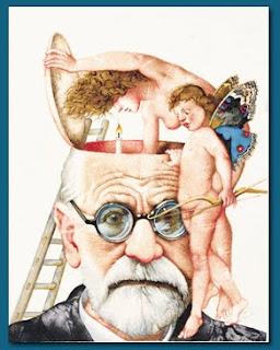 M. M. Prechtl: Amor und Psyche untersuchen Dr. Freud
