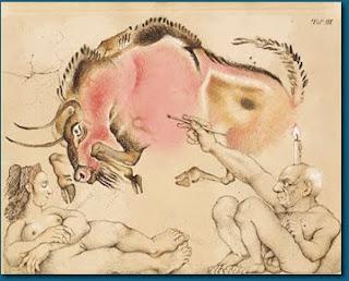 M. M. Prechtl: Die Vollendung der Malerei in der jüngeren Altsteinzeit, der Altamira-Maler bei der Arbeit