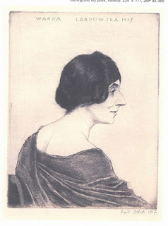Emil Orlik (1870-1932): Wanda Landowska, 1917