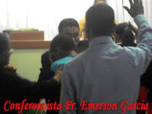 Conf. Pr. Emerson Garcia ministrando na Igreja Batista Missionária, Maceió-AL