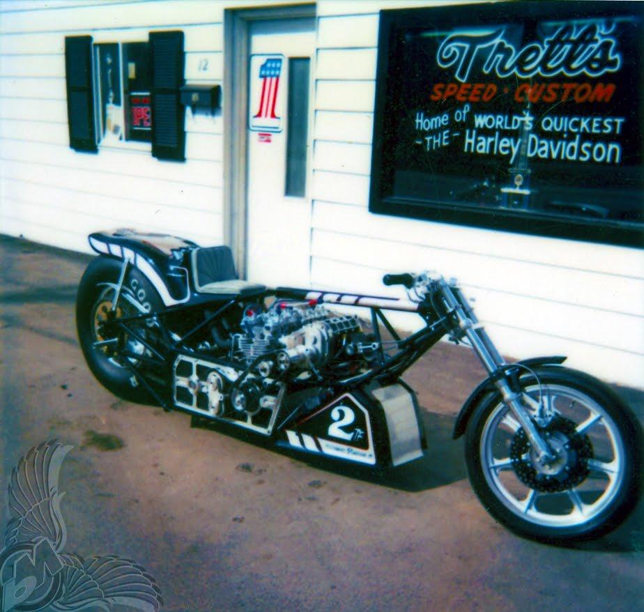 1982 inline-four drag bike | performance machine