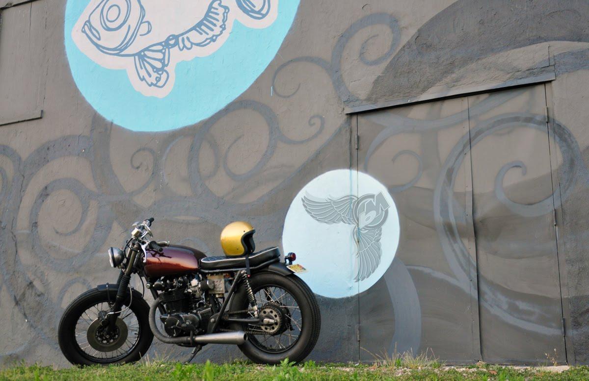1971 cb450 cafe racer artsy pic