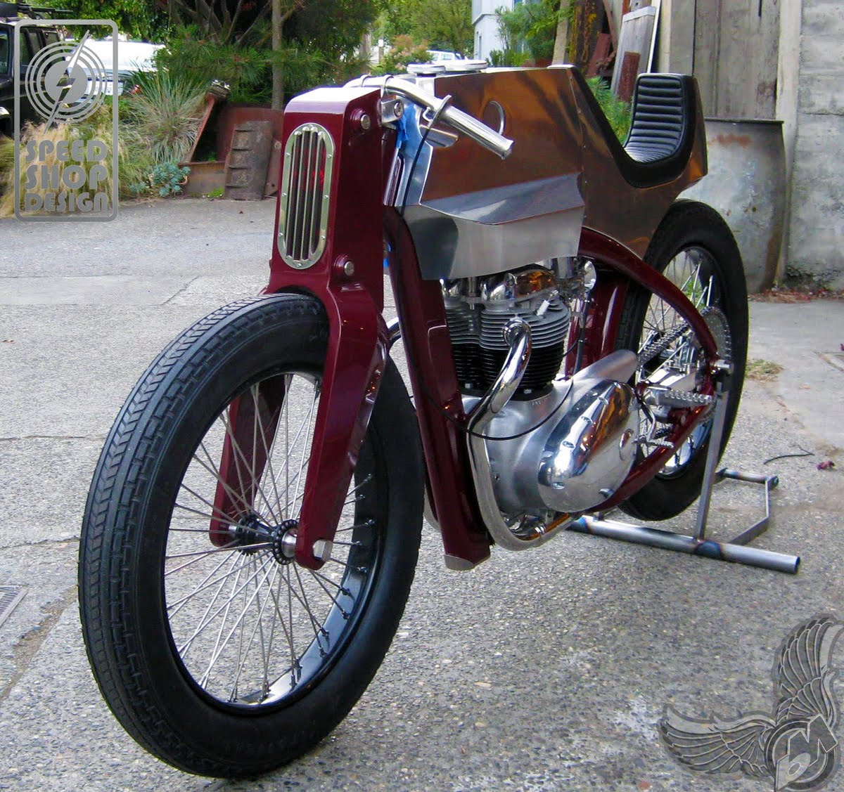 1965 bsa a65 front - beezerker | speed shop design