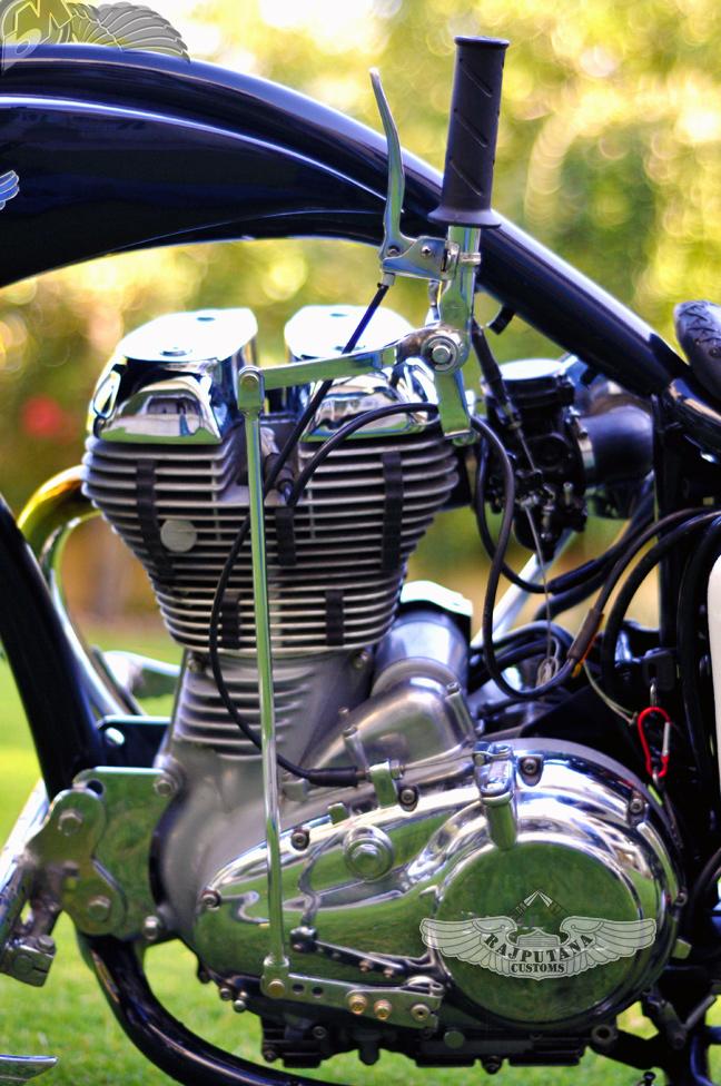 Original Gangster Royal Enfield Rajputana Custom Motorcycles Suicide Clutch on Motorcycle Honda Chopper Wiring
