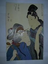 36. Curtezana cu shamisen  21x33cm