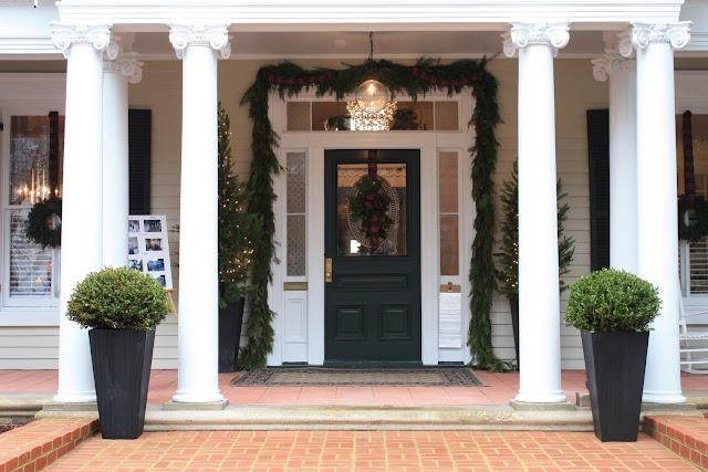 Front door of Fredericksburg home