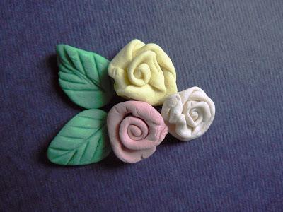 Роза из глины полимерной своими руками фото