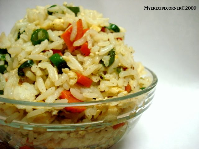Mye's Kitchen: Quick Fried Rice with Leftover rice.